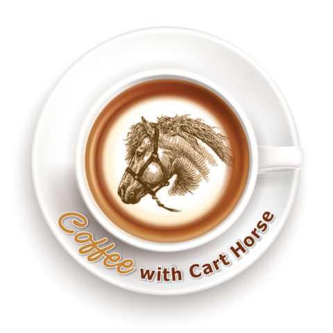 coffee with cart horse